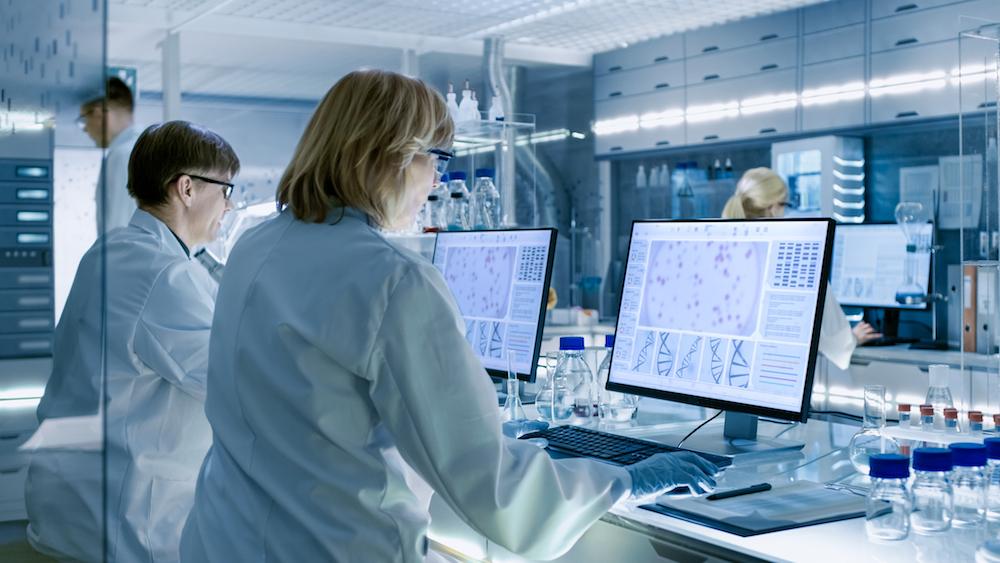 lab-data-management professionals at work