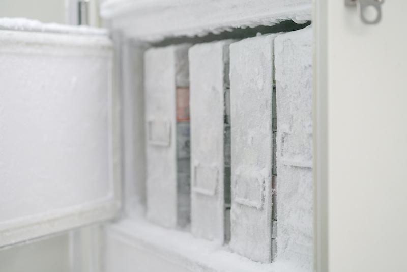 lab freezer door open with an open door sensor